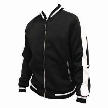 Jacob Varsity Jacket (Black/White)