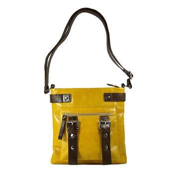 UN1 yellow leather pouch