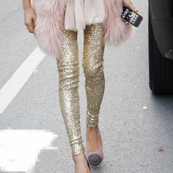 ESBUF3 Hot Sale Fashion show thin sequins pants