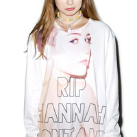 Rage On RIP Pop Culture Sweater White