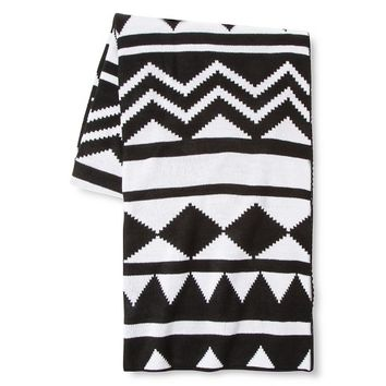 Tribal Knit Throw - Ebony - Xhilaration™