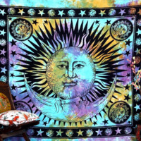 Beautiful Large Sun Hippie Tapestry