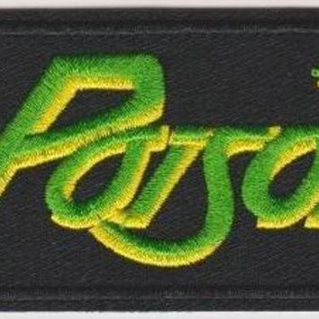 Poison Iron-On Patch Rectangle Letters Logo