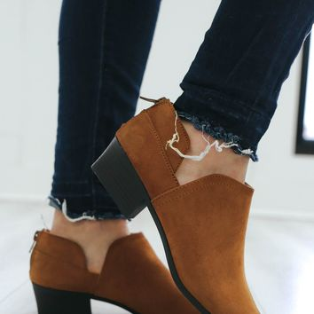 Miss Reliable Booties - Cognac