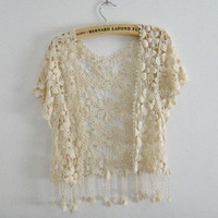 2013 new lace blouse with tassels [94]