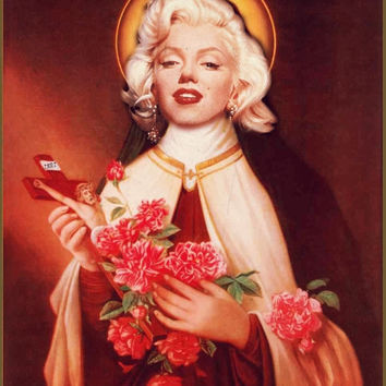 Saint Marilyn Monroe Prayer Candle Religious Retro Kitschy