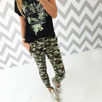 Camouflage Print Causal Pant B005187