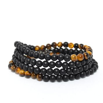 Tiger Eye and Onyx 2 in 1 Necklace
