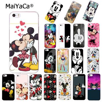 MaiYaCa Beauty Beast Bishoujo Kissing Mickey Minnie Mouse phone case for Apple iPhone 8 plus X 5s 5c 6s plus 7 4s cover
