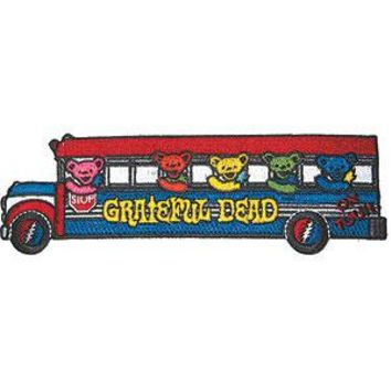 Grateful Dead Men's Embroidered Patch Red