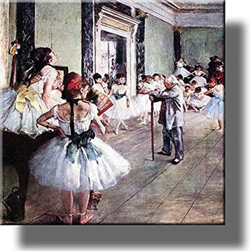 Ballet Class, Ballerina Vintage Picture on Stretched Canvas, Wall Art Decor, Ready to Hang!