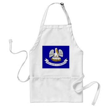 Apron with Flag of Louisiana, U.S.A.