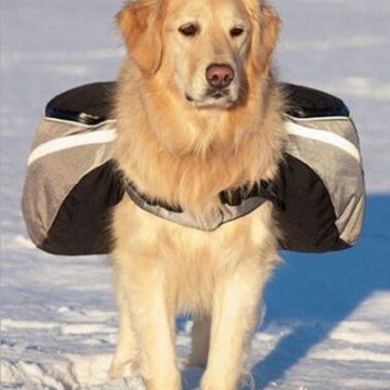 Dog Outward Hound Saddle Bags Dog Backpacks for Hiking or Camping Grey colour