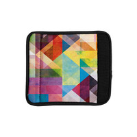 "Mareike Boehmer ""Color Blocking II"" Rainbow Abstract Luggage Handle Wrap"