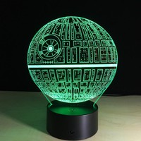 LED Table Night Light 3D Star WarsUSB Cable Desk Lamp