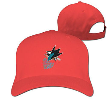 Cool Casquette San Jose Sharks Logo Small Fish Hip Hop Peaked Cap Truckers Baseball Hat Red