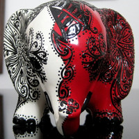 Black, White and Red -- Lucky Elephant Bank