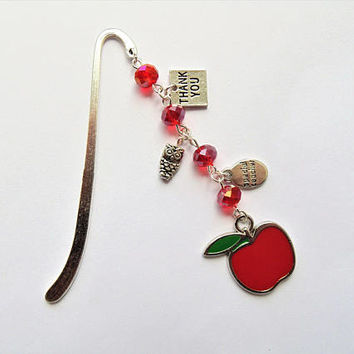 Teacher bookmark, teacher gift, gift for teacher, book lover gift, teacher appreciation, metal bookmark, end of year gift, thank you gift
