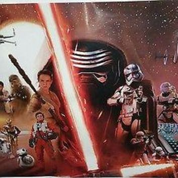 STAR WARS EPISODE 7 POSTER THE FORCE AWAKENS MOVIE GROUP    34 X 22