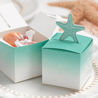 Starfish Pop-Up Favor Boxes for Beach Themed Wedding