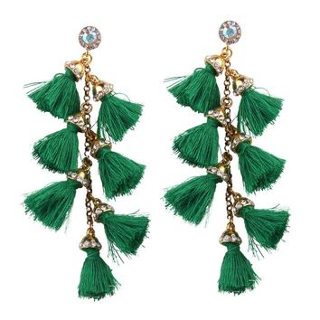*online exclusive* tassel dangle earrings (more colors available)