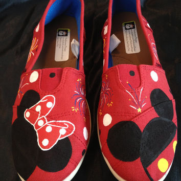 Mickey and Minnie Inspired Hand painted shoes