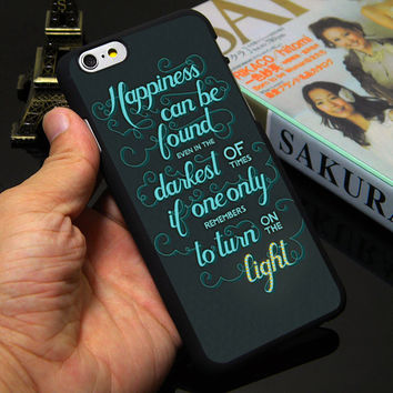 Harry Potter Happiness Can Be Found Hard Black Phone Case for iPhone 5S 5 SE 5C 4 4S 6 6S 7 Plus Cover ( Soft TPU / Plastic )