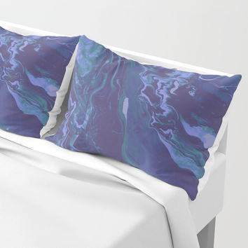Mermaid Marble Pillow Sham by duckyb