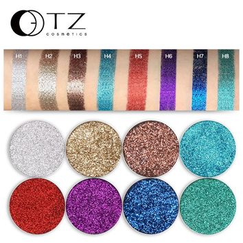 Pressed Glitter Eye Shadow Bright Rainbow Single Gltter Eyeshadow Fill In Magetic Palette Make Up Cosmetic Glitterinjections