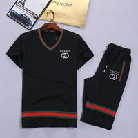 Day-First™ Boys & Men Gucci Shirt Top Tee Shorts Set Two-Piece