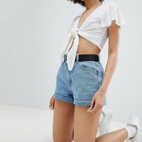 Bershka Mom Short at asos.com