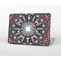 "The Mirrored Coral and Colored Vector Aztec Pattern Skin Set for the Apple MacBook Pro 13"" with Retina Display"