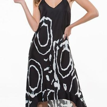 """ASYM"" Halter Print Women's Maxi Dress (Plus Size Available)"