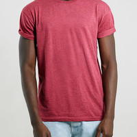 Light RED ROLLER FIT T-SHIRT