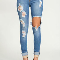 Hole in One Skinny Jeans - LoveCulture