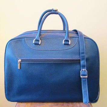 Vintage Luggage Suitcase Duffle by GOLDFISH 1980s CARRY ON