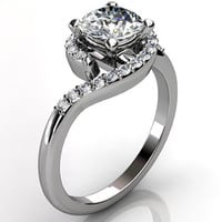 Platinum diamond engagement ring, anniversary ring, wedding ring ER-1070