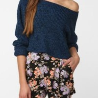 Urban Renewal Cropped Cutout Neck Sweater