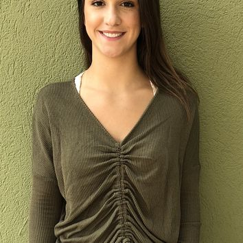 Close To Me Top - Olive