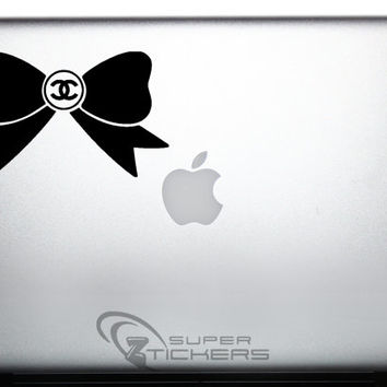 Chanel Bow Decal Sticker Logo. Bow Logo COCO Inspired - Fashion Decal Sticker