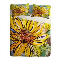Ginette Fine Art Sunflower Yellow Ribbon Sheet Set Lightweight