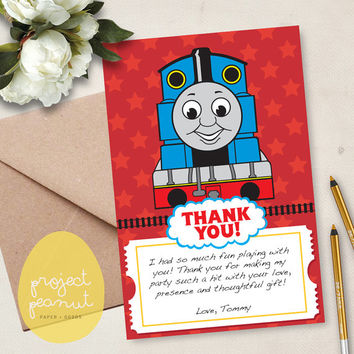 Printable Thomas The Train Thank You Card [Instant Download]
