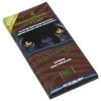 Endangered Species Panther, Dark Chocolate (88%), 3-Ounce Bars (Pack of 12)