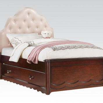 Cecilie Cherry Panel Tufted Full Bed 30265F