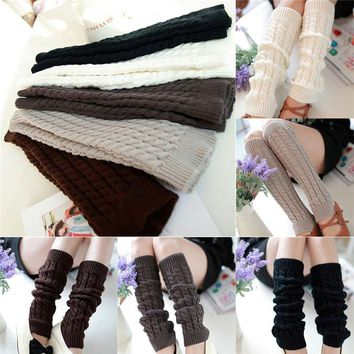 Leg Warmers for Women Fashion Gaiters Boot Cuffs Woman Thigh High Warm Knit Knitted Knee Socks Black Christmas Gifts