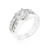 Silvertone Stackable Ring Set, size : 08
