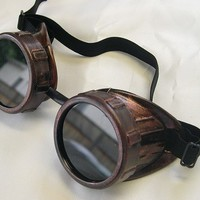 STEAMPUNK GOGGLES Cyber Welders Antique Copper Distressed Rust Look