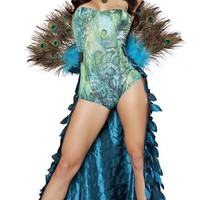 Deluxe Sultry Peacock Costume