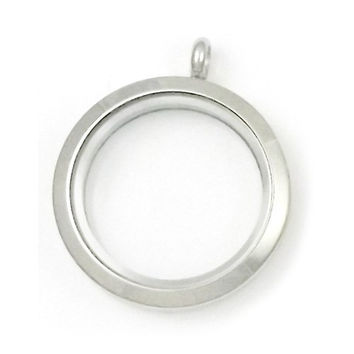 Stainless Steel Round Magnetic Floating Charm Locket