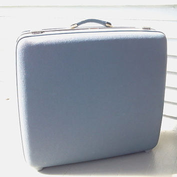 Vintage, Luggage, Suitcase, Tourister, Light Blue, Hard Case, RhymeswithDaughter